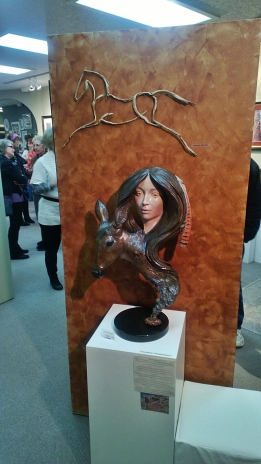 Infusion Gallery opening February 7th, 2013. Heather Soderberg sculpture.